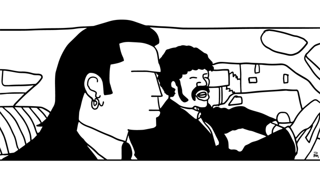 Vincent Vega et Jules Winnfield, Pulp Fiction / ©Pascal Mabille