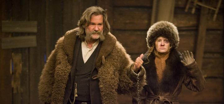 Daisy Domergue et John Ruth dans Les Huit Salopards de Quentin Tarantino